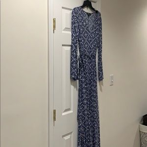 Blue and White Maxi Dress